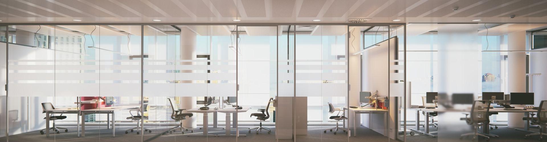 ściany szklane działowe z warszawy